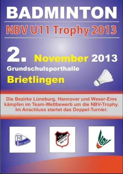 Werbeplakat zur NBV U11-Trophy